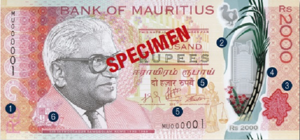 Security Features 2000 | Bank of Mauritius