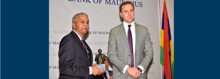 Central Bank Governor of the Year for Africa award by The Banker magazine to Bank of Mauritius Governor