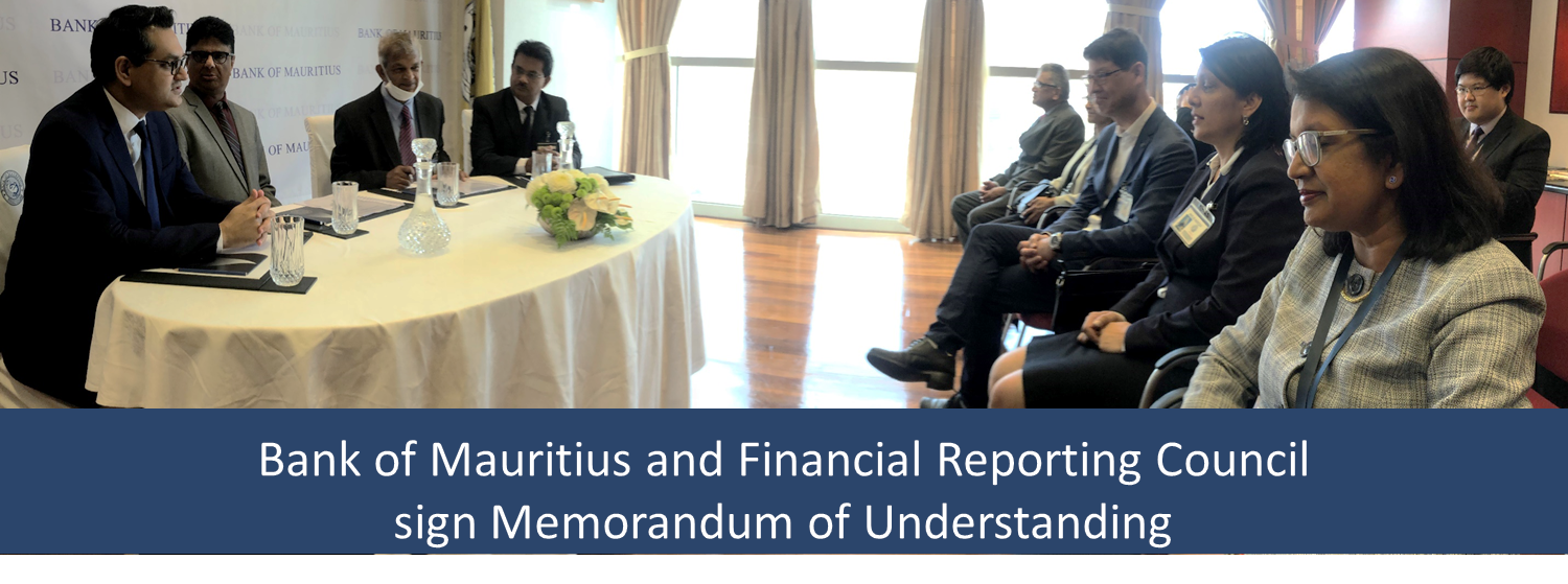 The Bank of Mauritius and the Financial Reporting Council sign a Memorandum of Understanding
