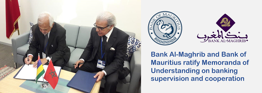 Bank Al-Maghrib and Bank of Mauritius ratify Memoranda of Understanding on banking supervision and cooperation