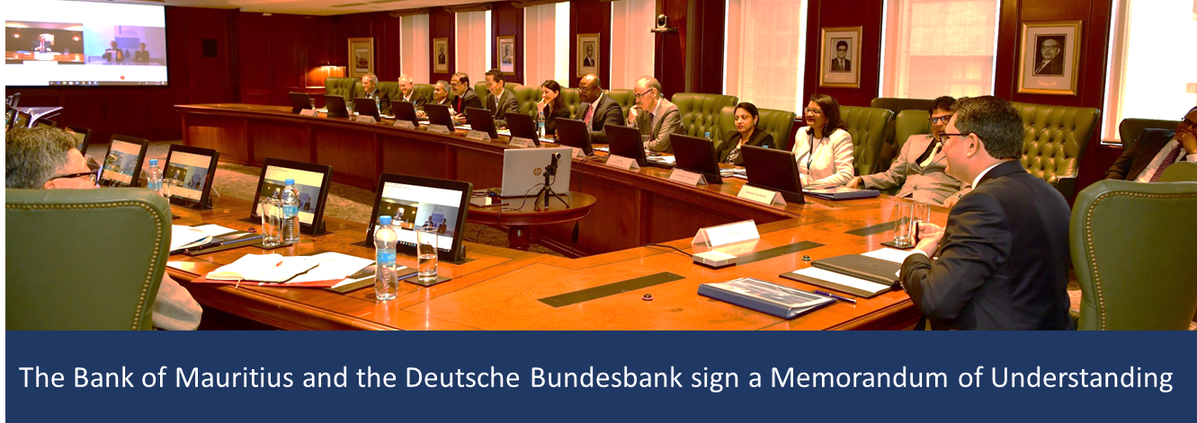 The Bank of Mauritius and the Deutsche Bundesbank sign a Memorandum of Understanding