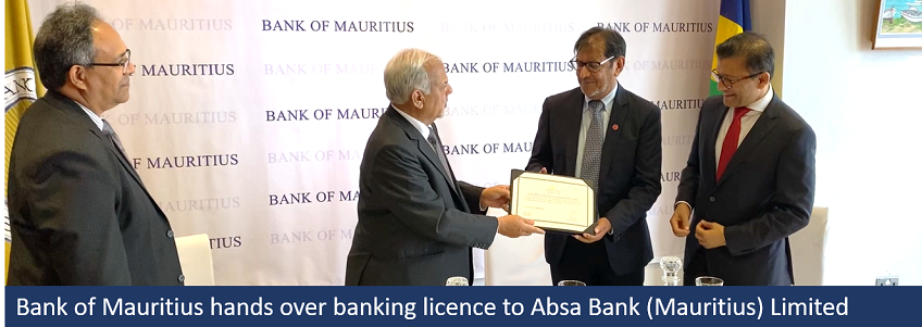 BoM hands over banking licence to Absa Mauritius