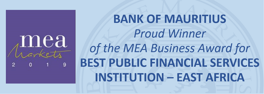 Bank of Mauritius wins MEA Business Award for Best Public Financial Services Institution – East Africa
